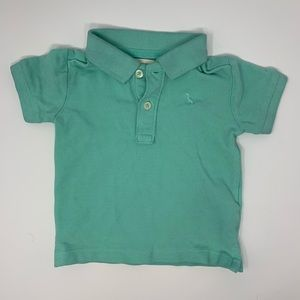 Zara baby blue green polo size 3/6 months